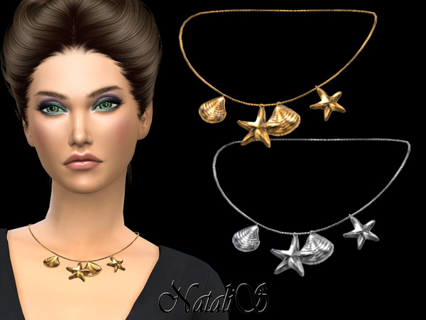Sims 4 Mermaid necklace by NataliS at TSR