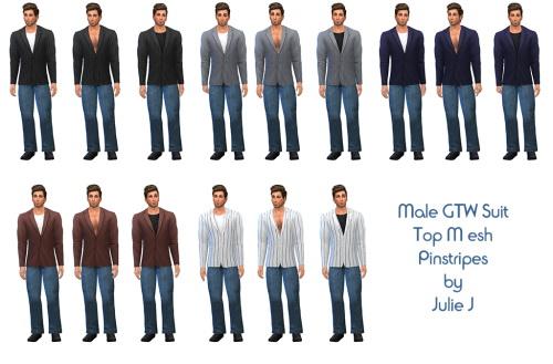 GTW Suit Jacket Top Mesh Pinstripe at Julietoon – Julie J image 1733 Sims 4 Updates