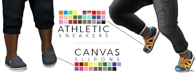 Canvas and Athletic Shoes at Onyx Sims image 174 670x251 Sims 4 Updates