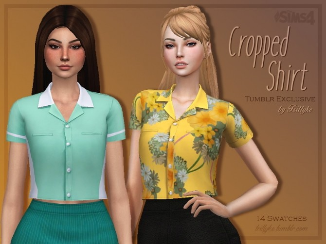Sims 4 Cropped Shirt by Trillyke