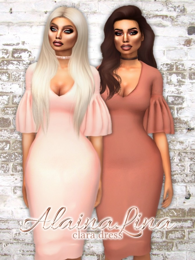 Sims 4 Clara Dress at AlainaLina