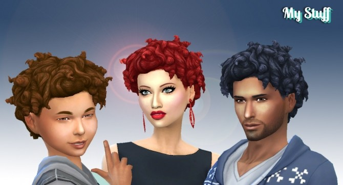 Sims 4 Tight Curls Conversion at My Stuff