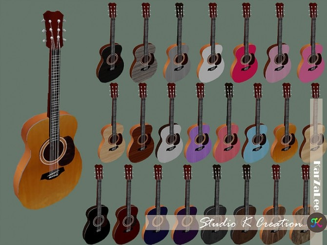 Sims 4 Basic handle guitar new at Studio K Creation