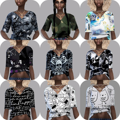 Cross Neck Top Recolor at Teenageeaglerunner image 1784 Sims 4 Updates