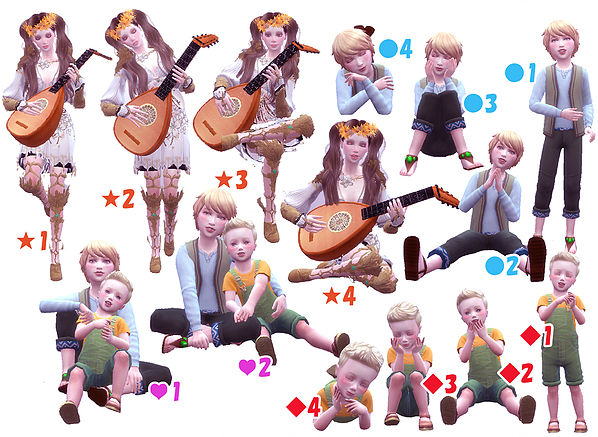 Lute pose at A luckyday image 1803 Sims 4 Updates