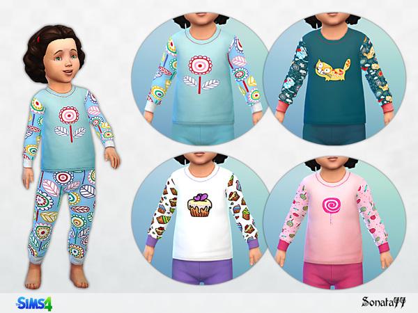 Sims 4 Pajama set 02 by Sonata77 at TSR
