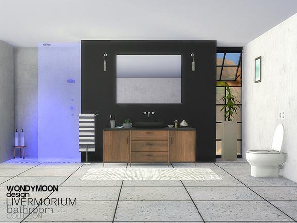 Livermorium Bathroom by wondymoon at TSR image 1820 Sims 4 Updates