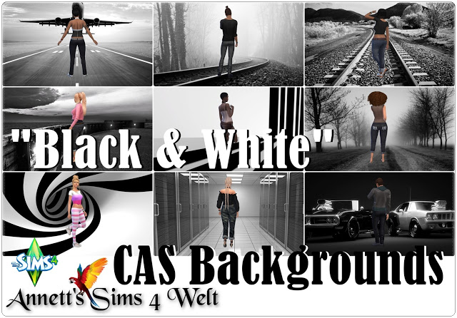 CAS Backgrounds Black & White Pictures at Annett's Sims 4 Welt image 183 Sims 4 Updates