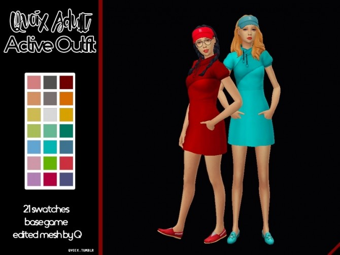 Sims 4 Active Outfit at qvoix – escaping reality