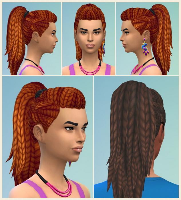 Sims 4 Hangout Braids at Birksches Sims Blog