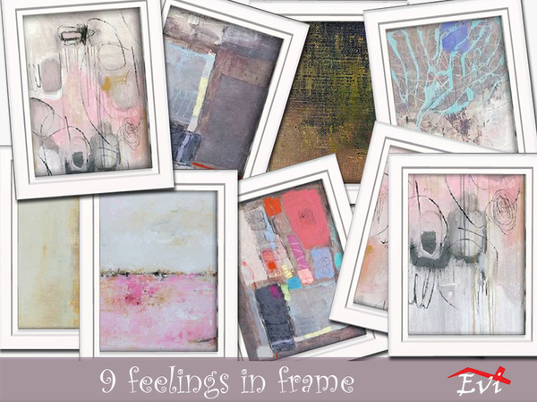 Sims 4 9 feelings in frame by evi at TSR