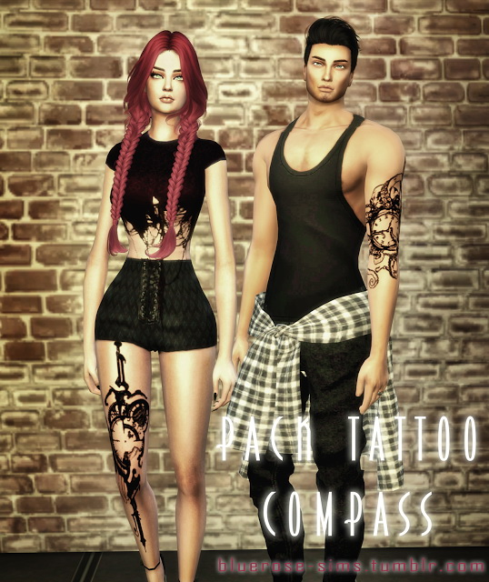 Tattoos Compass at BlueRose Sims image 1882 Sims 4 Updates