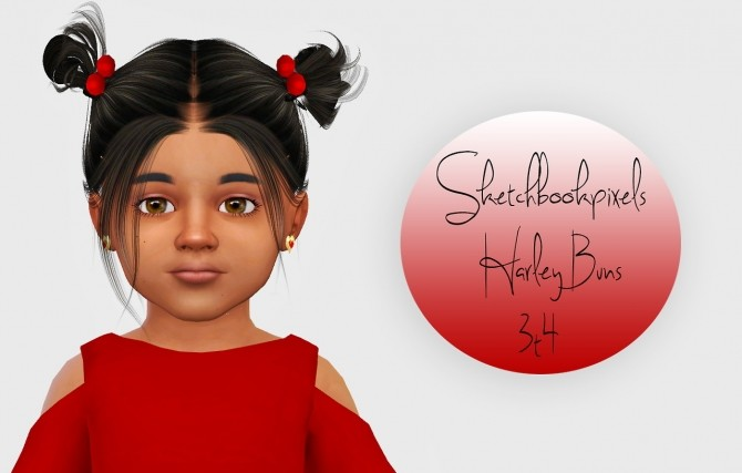 Sketchbookpixels Harley Buns 3t4 At Simiracle 187 Sims 4 Updates