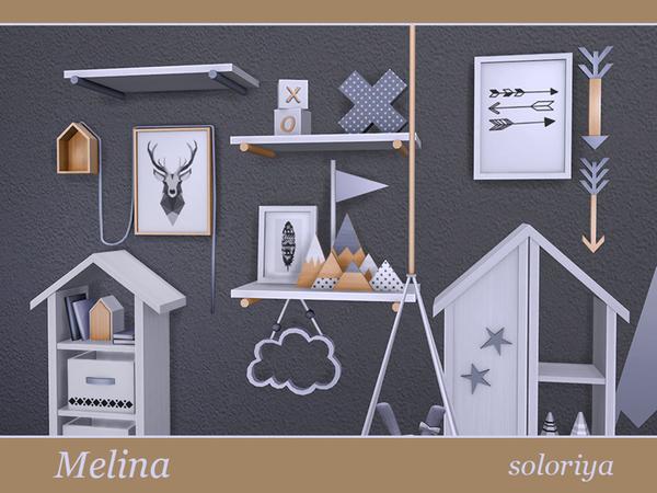 Sims 4 Melina Living Room by soloriya at TSR