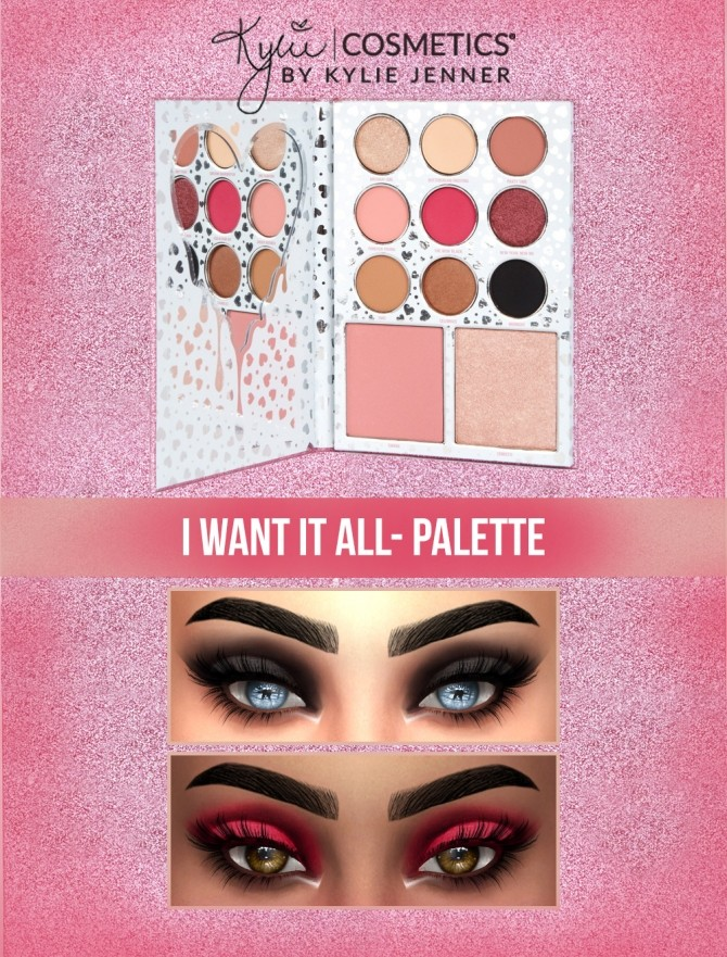 I want It All Eyeshadow Palette at Kenzar Sims image 2064 670x881 Sims 4 Updates
