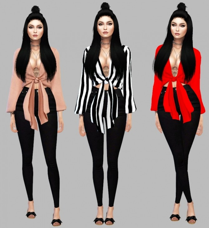 Sims 4 Selene Blouse at Simply Simming