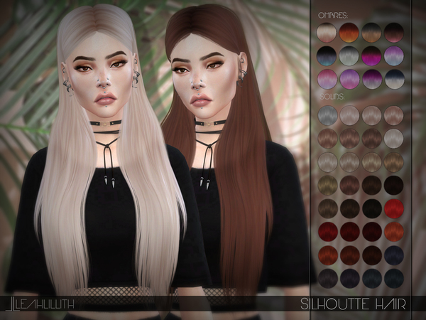 Silhouette Hair by Leah Lillith at TSR image 2104 Sims 4 Updates