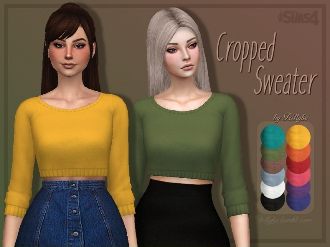 Cropped Sweater at Trillyke image 21110 670x503 Sims 4 Updates