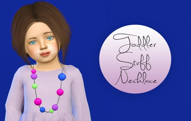 Sims 4 Toddler Stuff Necklace Separated at Simiracle