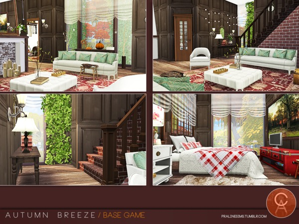 Sims 4 Autumn Breeze house by Pralinesims at TSR