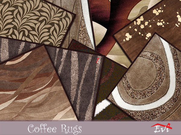 Sims 4 Coffee Rugs by evi at TSR