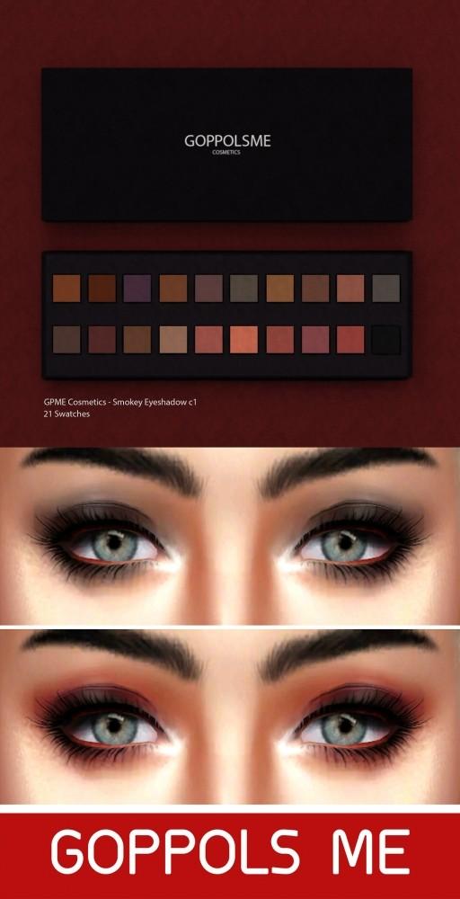 Smokey Eyeshadow c1 at GOPPOLS Me image 2229 512x1000 Sims 4 Updates