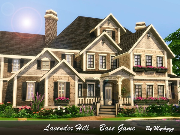 Lavender Hill house by MychQQQ at TSR image 2314 Sims 4 Updates