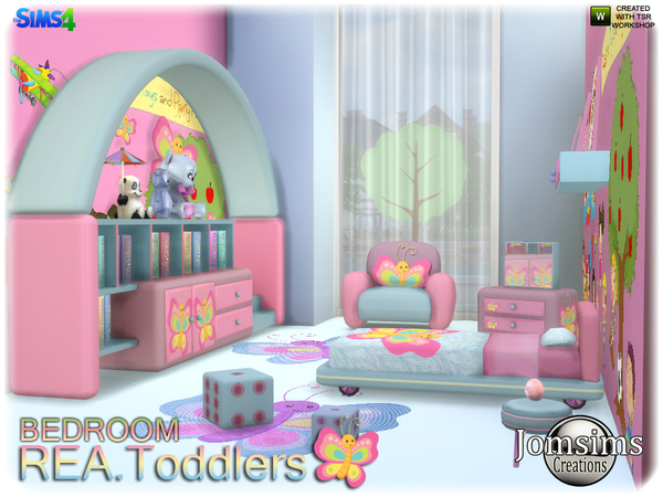 Rea toddlers bedroom by jomsims at TSR image 2315 Sims 4 Updates