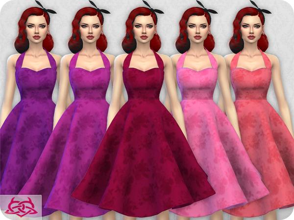 Sims 4 Sarah dress recolor 4 by Colores Urbanos at TSR