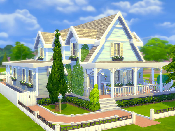 Sims 4 Sugarberry Cottage by sharon337 at TSR