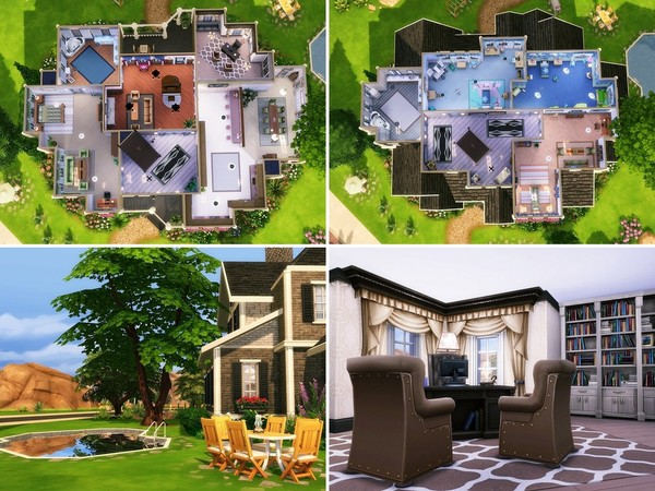 Lavender Hill house by MychQQQ at TSR image 2416 Sims 4 Updates