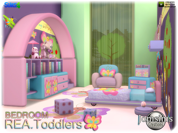 Rea toddlers bedroom by jomsims at TSR image 2417 Sims 4 Updates