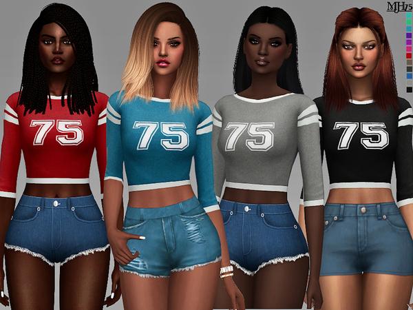 Sims 4 Vila Varsity Tops by Margeh 75 at TSR
