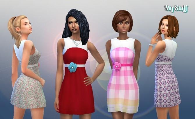 Sims 4 Dress Flower Conversion at My Stuff