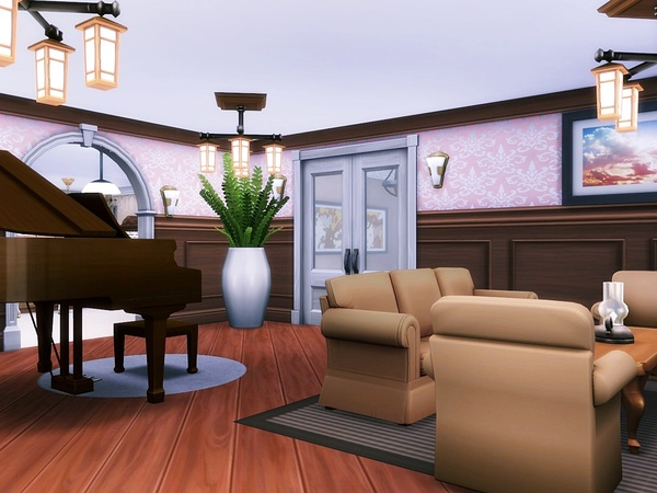 Lavender Hill house by MychQQQ at TSR image 2515 Sims 4 Updates