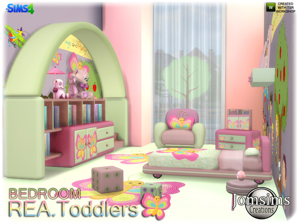 Rea toddlers bedroom by jomsims at TSR image 2516 Sims 4 Updates