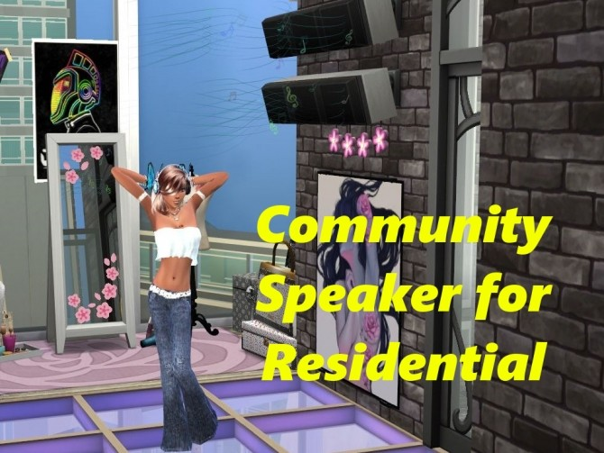 Sims 4 Community Speaker for Residential by RevyRei at Mod The Sims