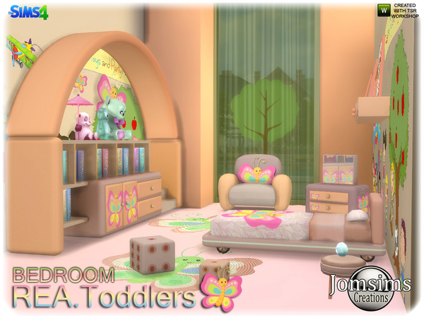 Rea toddlers bedroom by jomsims at TSR image 2616 Sims 4 Updates