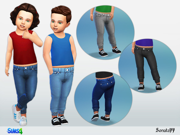 Sims 4 Simple jeans by Sonata77 at TSR