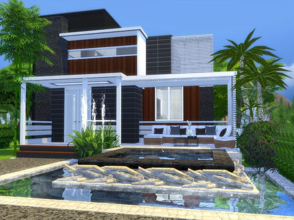 Sims 4 Modern Nitara house by Suzz86 at TSR