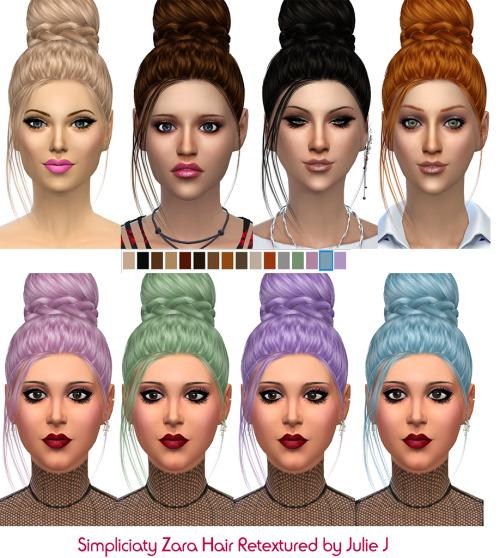Sims 4 Simpliciaty Zara hair retexture at Julietoon – Julie J