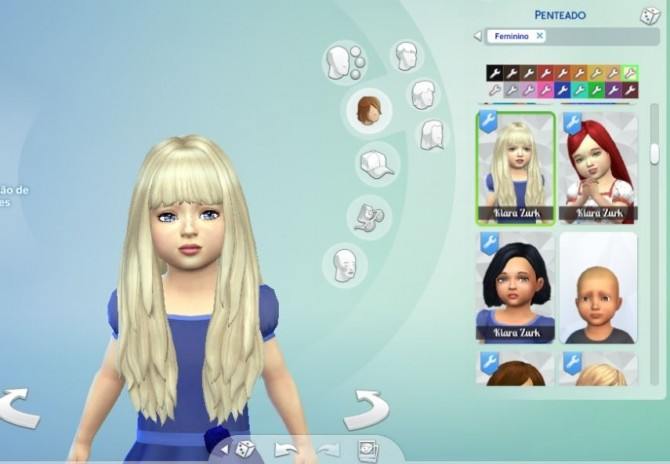 Sims 4 Long NO Dipped Color for Toddlers at My Stuff