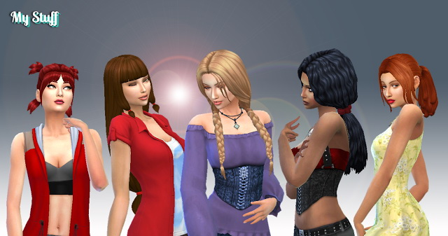 Sims 4 Tied Hairs Pack 6 at My Stuff