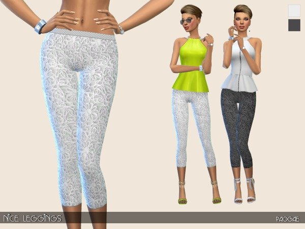 Sims 4 Nice Leggings by Paogae at TSR