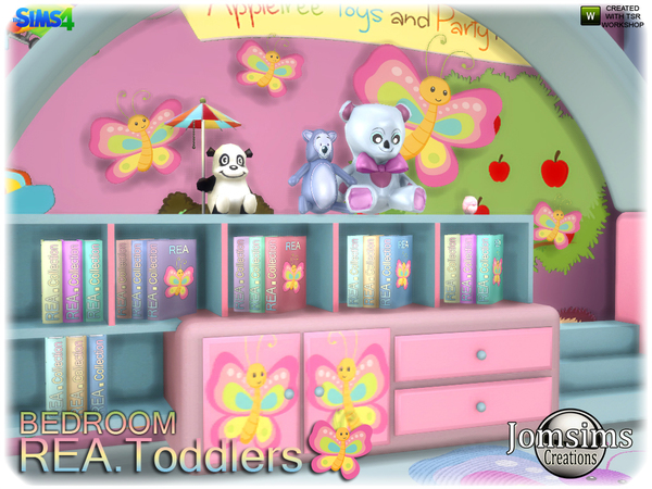 Rea toddlers bedroom by jomsims at TSR image 2717 Sims 4 Updates