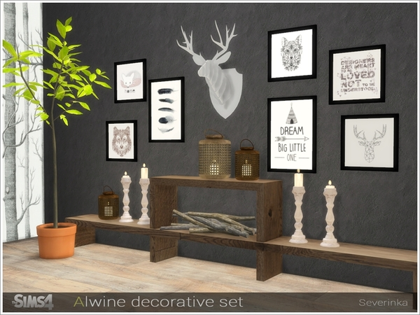 Alwine decorative set by Severinka at TSR image 2718 Sims 4 Updates