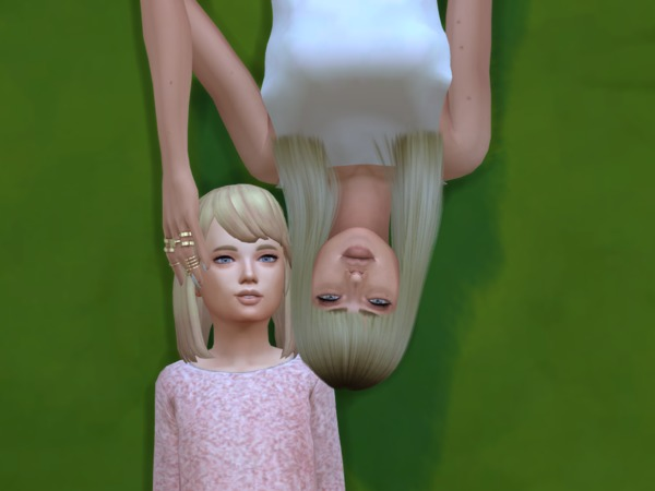Sims 4 Mother & daughter Photo Inspired Pose by Meanwhile Simming at TSR