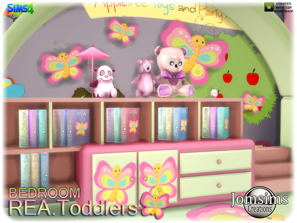 Rea toddlers bedroom by jomsims at TSR image 2817 Sims 4 Updates