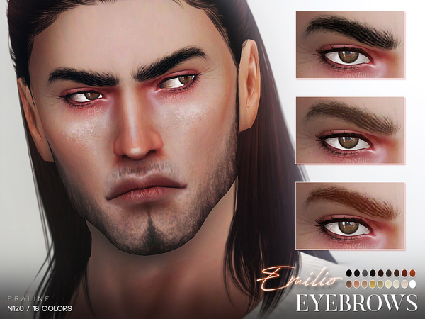 Emilio Eyebrows N120 by Pralinesims at TSR image 2818 Sims 4 Updates