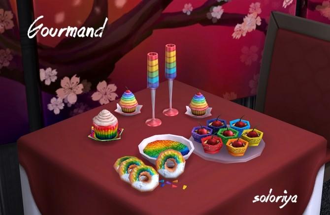 Sims 4 Gourmand set at Soloriya